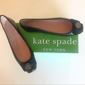 Kate Spade flats black patent size 9